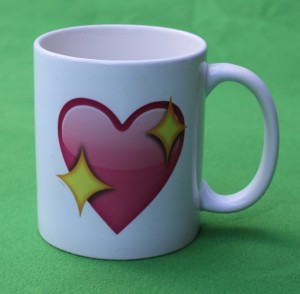 Heart with diamonds mug