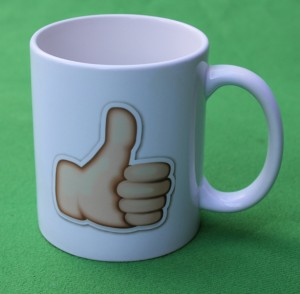 Thumbs-up mug